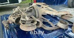 Vintage Antique Cast Iron Cloverleaf Hay Trolley