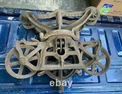 Vintage Antique Cast Iron Hay Trolley The Harvester Harvard