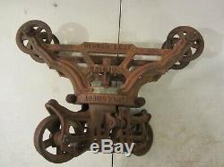 Vintage Antique F. E Myers Clover Leaf Adjustable Unloader Hay Barn Trolley H543