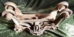 Vintage Antique Hay Carrier Barn Trolley Cast Iron