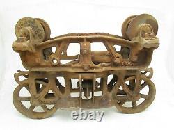 Vintage Antique James Way Hay Carrier Barn Trolley No 1058A