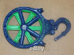 Vintage Antique Louden Hay Trolley Carrier Steampunk Barn Rope Pulley Farm Tool
