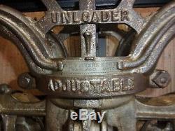 Vintage Antique Myers Cloverleaf Unloader Hay Barn Trolley/Carrier /Drop Pulley