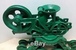 Vintage/Antique Olson Cast Iron Hay Trolley Barn Pulley Farm Tool Hay Carrier