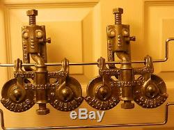 Vintage Barn Door Rollers Hay Trolley Carrier Cast Iron F E Myers Pulley