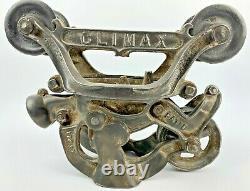 Vintage CLIMAX Hay Trolley Barn Trolley Pulley All Original