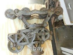 Vintage Cast Iron Advance G. A. Olsen Barn Hay Trolley With Drop Pulley 1905-10