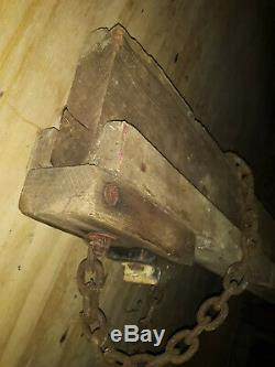 Vintage Cast Iron Hay Pulley Barn Trolley Carrier