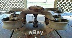 Vintage Cast Iron Hay Trolley Meyers O. K. Unloader H321 Nice