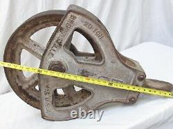 Vintage Cast Iron Huge Pulley's from the San Francisco Wharf 30 long