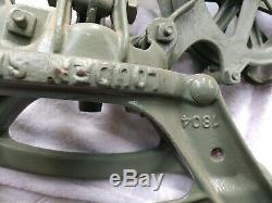 Vintage Cast Iron Louden Senior Hay Farm Barn Trolley Swivel adjustable
