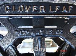 Vintage Clover Leaf. Unloader F. E. Myers & Bros. Hay Trolley & Pulley