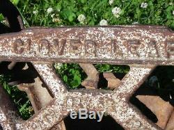 Vintage Cloverleaf Hay Trolley with John Deere Plate