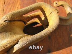 Vintage Eagle Cast Iron Barn Hay Trolley Center Drop Pulley