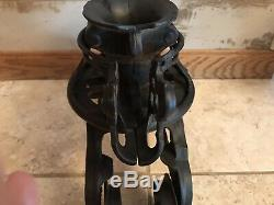 Vintage F. E. MEYERS Barn Hay Trolley Pulley Cast Iron Unloader H216/H120