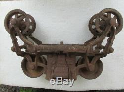 Vintage F E Myers & Bro O. K. Hay Unloader/Trolly J Light Cast Iron Ashland, OH