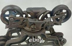 Vintage H. H. F. & Co PEERLESS HARVARD, ILL Barn Hay Trolley Carrier 1905