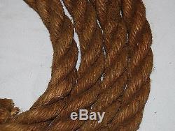 Vintage Hay Barn Rope 1 inch Thick 5 Foot Long Hemp Old Farm Loft Decor