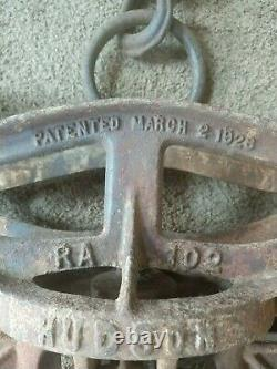 Vintage Hudson Hay Trolley With Pulley 1926