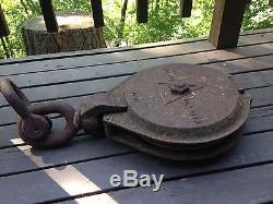 Vintage Iron Madesco Easton Lumber Pulley