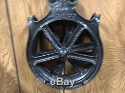 Vintage LOUDEN A59 1717 Cast Iron Barn Senior Hay Trolley Pulley Rustic Display
