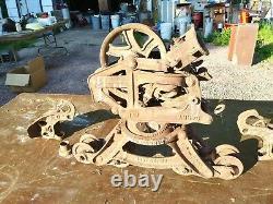 Vintage Louden Carry-all Hay Trolley Fairfield Iowa Barn Farm Home Decor