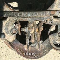 Vintage Louden Cast Iron Swivel Hay Trolley Carrier Farm Barn Steampunk