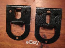 Vintage MYERS 8 Foot complete set Barn door roller rail track ends and coupler