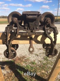 Vintage Meyers Hay Trolley Block Tackle Pat 1884