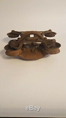 Vintage Myers Hay Unloader H-250 Cast Iron Trolley