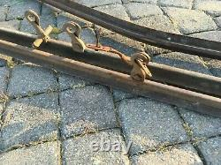 Vintage Myers hay carriage trolley 45' track with hangers Blocks Complete