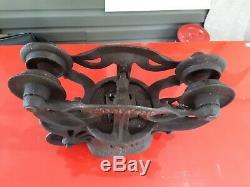 Vintage Porter Hay Trolley Barn Pulley Cast Iron