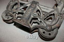 Vintage Porter Hay Trolley Pulley Cast Iron Farm Barn Tool Rustic 42 & 43