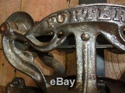 Vintage Porter Meadow King Hay Trolley/Carrier Cast Iron Pulley Barn