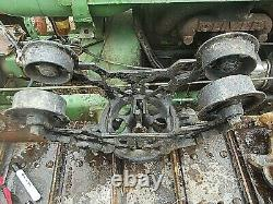 Vintage Rare ORNATE Wood Track Myers Barn Trolley hay Carrier Pulley