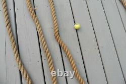 Vintage Rope twisted manilla 1 1/2 boat Hemp Twine 160' barn nautical marine