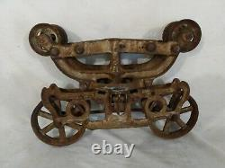 Vintage Star Cast Iron Hay Trolley Hay Carrier Rare