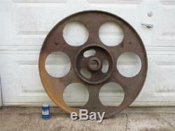 Vintage Yates American Y36 Bandsaw Blade Pulley Wheel Cast Iron Steampunk Saw