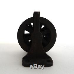 Vintage brass bronze Pulley Four Pulley Industrial 4 reel