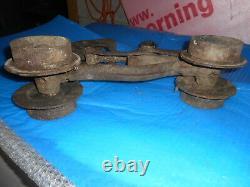 Vintage cast Iron Barn fresh J. A. Cross Hay Trolley Fultonville NY 1876 1883