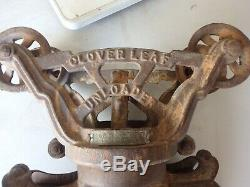 Vintage cast iron hay unloader CLOVER LEAF unloader
