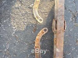 Vintage hay trolley H422 Sure Loc Cloverleaf Uniloader with hay forks