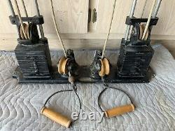 Vtg 1950s Wall Mount Rope & Pulley Workout Station