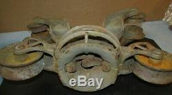 Vtg/Antique HAY/BARN TROLLEY Cast Iron Steampunk/Farmer/Ranch/Farm J0447