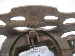 Vtg FE Myers & Bro OK Unloader Cast Iron Farm Barn Hay Trolley Pulley Rustic