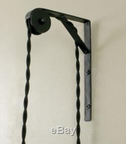 Vtg Wall/Ceiling Mount Bracket Light Cord/Rope Pulley Industrial/Steampunk Decor